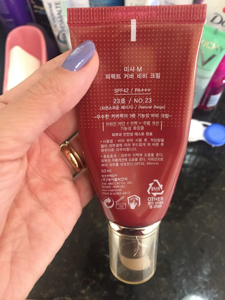 Missha Perfect Cover BB Cream Ingredientes